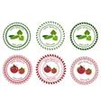 Logo Design Element vegetables packing vector image