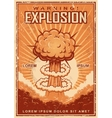 Vintage explosion poster vector image
