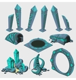 Part of portal elements from sci-Fi series vector image