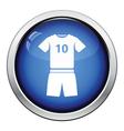 Icon of football uniform vector image vector image