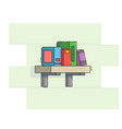 bookshelf icon flat line style vector image