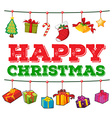 Christmas card design with present boxes vector image