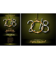 restaurant menu template for 2018 new year dinners vector image