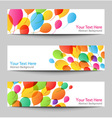 Set of holiday banners with colorful balloons vector image