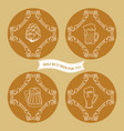 set of simple beer logo in vintage style vector image