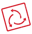 Centrifugal Arrows Icon Rubber Stamp vector image