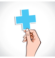 medical sign in hand vector image