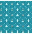 Seamless pattern with anchors in grunge style vector image