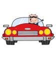 Driving Caucasian Businessman vector image