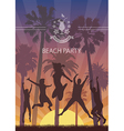 Summer Exotic Banner with Palm Trees for Beach vector image vector image