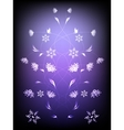 Abstract background with pattern of flowers EPS10 vector image