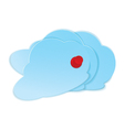 Clouds with pushpin vector image