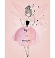 Cute fairy girl vector image