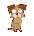 dog comic character icon vector image