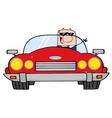 Driving Caucasian Businessman vector image