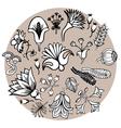 Fantasy floral elements vector image