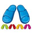 flip flops set - slippers vector image