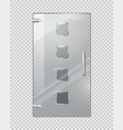glass door with squares on transparent background vector image