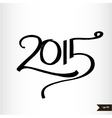 Happy New Year Handwritten calligraphic watercolor vector image