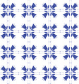 Seamless pattern with Dutch ornaments Deflt blue vector image