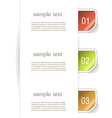 Set of paper bookmarker or stickers vector image