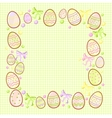 background for messages with egg green vector image vector image