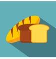 Fresh bread icon flat style vector image