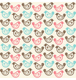seamless pattern with funny birds vector image vector image