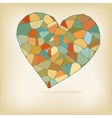 Retro heart made from color form  EPS10 vector image vector image