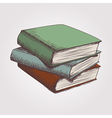 colorful sketch of books stack vector image