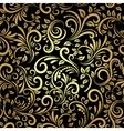 golden seamless pattern vector image vector image