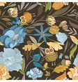Creative Autumn Blue Pattern vector image