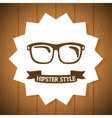 Hipster retro and vintage vector image