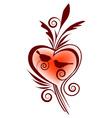 bird and heart vector image