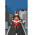 Man riding motorcycle vector image vector image