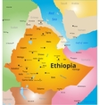color map of Ethiopia vector image vector image