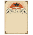 American western background for textCowboy rodeo vector image