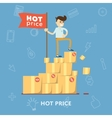 Hot price flat abstract isolated vector image