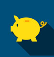 bank piggy flat icon vector image