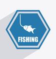 fishing design vector image
