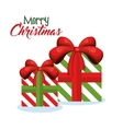 gifts christmas presents decoration icon vector image
