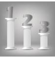 greek columns vector image