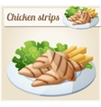 Grilled chicken strips Detailed Icon vector image