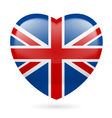 Heart icon of United Kingdom vector image