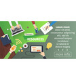 human resources design concept business team flat vector image