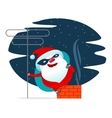 Santa Claus masked superhero vector image