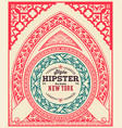 hipster card ornaments and floral details vector image vector image