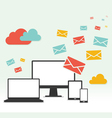 Concept Email Marketing Design vector image vector image