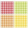 Houndstooth tile pattern or background set vector image