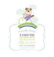 Baby Shower or Arrival Card - Baby Dog on a Bike vector image